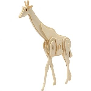 3D Wood Construction Kit - giraffe C580507
