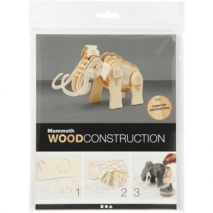 3D Wood Construction Kit - mammoth C580503