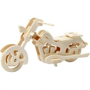 3D Wood Construction Kit - motorbike C580504