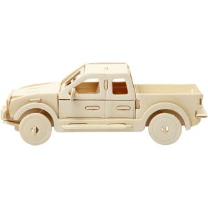 3D Wood Construction Kit - pickup truck C580505
