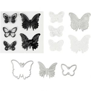 Stencils and Stamps - Butterflies C117480