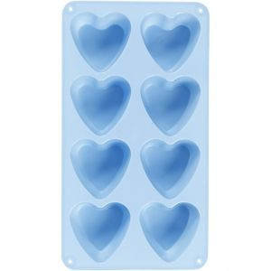 Silicone mold Hearts 1pc - C37134