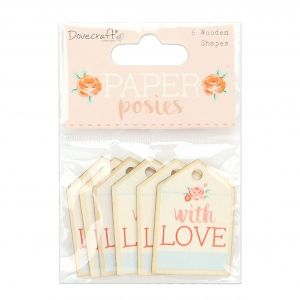 Wooden Tags 6 pcs - Paper Posies DCWDN100