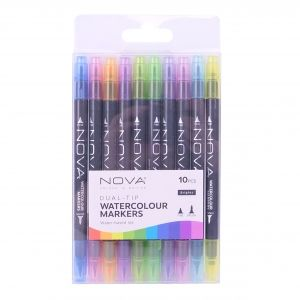 Dual-Tip Watercolour Markers 10pcs  – Brights NOV014