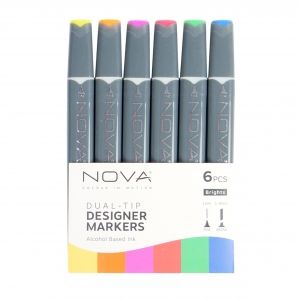 Sketch Markers 6pcs - Brights NOV008