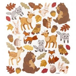 Glitter stickers 38pcs - Forest Animals DPNK-110