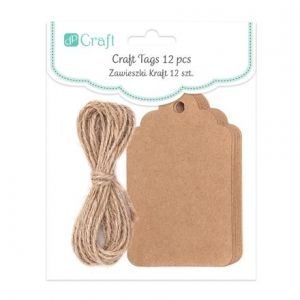 CRAFT TAGS WITH STRING - SIGNBOARD , 12 P DPZS-003