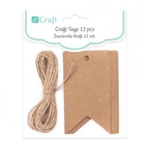Craft Tags With String - BANNER, 12 PCS , 12 P DPZS-004