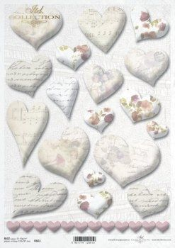 Decoupage Rice Paper A4 - Happy Valentines ITD-R0661