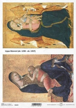 Decoupage Rice Paper A4 - Madonna and child 2 ITD-R1624