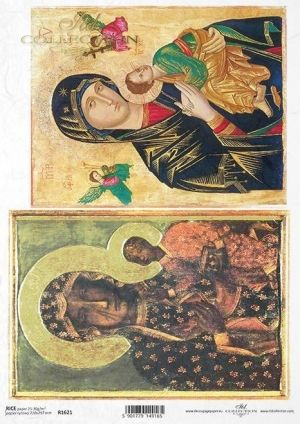 Decoupage Rice Paper A4 - Madonna and child 1  ITD-R1621