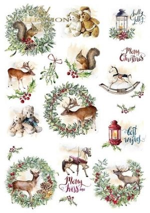 Paper pad А4, 5 sheets. - Wonderful Christmas Time ITD-SCRAP-051