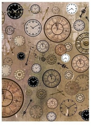 Paper pad А4, 5 sheets. - Steampunk ITD-SCRAP-043
