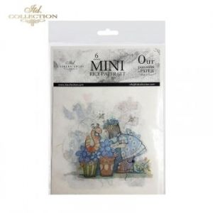 Decoupage Rice Paper set 6 sheets. 14.8х14.8сm - Children ITD-RSM013
