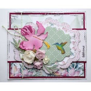 Cut-emboss die - Cut-emboss-debossdie - Hummingbird and flower 6002-1468