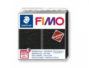 FIMO Leathert modelling clay 57g - black - G8010909