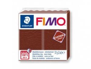 FIMO Leather modelling clay 57g - brown - G8010779