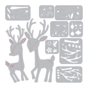 Sizzix Thinlits Die Set 10PK - Christmas Deer 664448