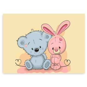 Painting by numbers 20x30cm - Little Bear and Little Bunny MC1078e