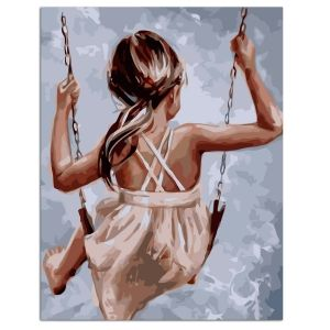 Painting by numbers 40x50cm - Happiness on the Swing MG2106e