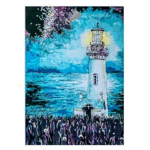 Painting by numbers 40x50cm - Lighthouse in the Night MG2093e