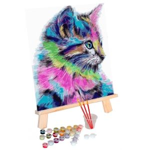 Painting by numbers 40x50cm - Colourful Kitten MG2077e