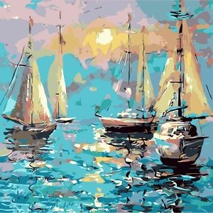 Painting by numbers 40x50cm - Quiet Harbour MG2092e
