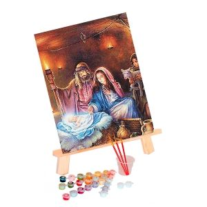 Painting by numbers 40x50cm - The Birth of Jesus Christ MG2156e
