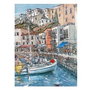 Painting by numbers 40x50cm - Marina in a Town MG2094e