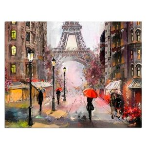 Painting by numbers 40x50cm -  Paris in the Rain MG2160e
