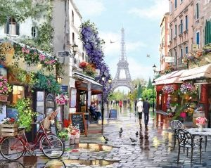 Painting by numbers 40x50cm -  Paris in Spring MG2206e