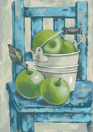 Painting by numbers 40x50cm -  Still Life with Green Apples MG2105e