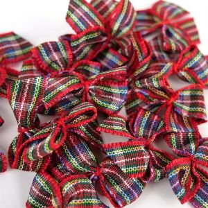 Simply Creative Mini Bows 15 pcs - Red SCRBN007X20