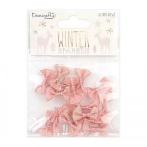 Simply Creative Mini Bows 16 pcs - Winter Sparkle DCRBN055X20