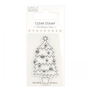 Clear stamp - Christmas Stamp Tree SCSTP034X20