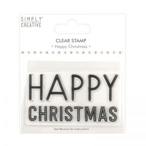 Clear stamp - Happy Christmas SCSTP038X20