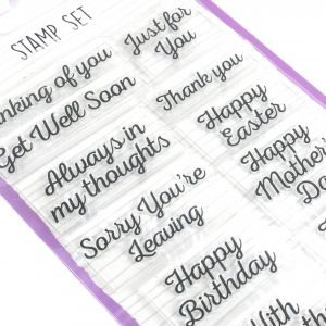 Dovecraft Essentials Stamp Set - Occasion DCBS186