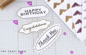 Dovecraft Sentiment Toppers - Happy Birthday DCBS181