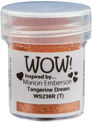 Embossing powder 15ml -Tangerine Dream WS236R
