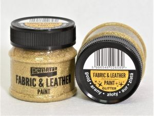 Fabric and leather paint 50ml - glittering gold P35138