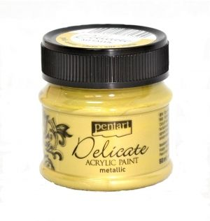 Delicate acrylic paint metallic 50 ml - gold P37488