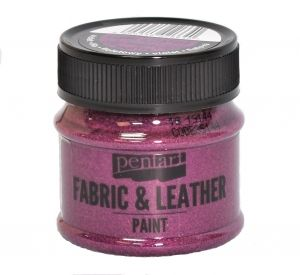 Fabric and leather paint 50ml - glittering purple P35144
