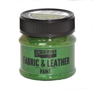Fabric and leather paint 50ml - glittering green P35142