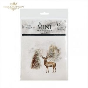 Decoupage Rice Paper set 6 sheets. 14.8х14.8сm - Winter animals ITD-RSM026