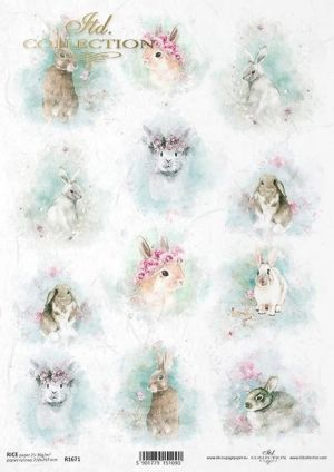 Decoupage Rice Paper А4 - Spring Shabby Chic, ITD-R1671