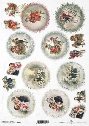 Decoupage Rice Paper А4 - Christmas motifs ITD-R1491