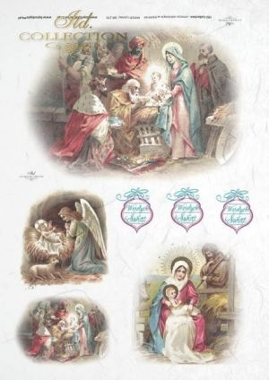 Decoupage Rice Paper А4 - Holy Familly ITD-R0270