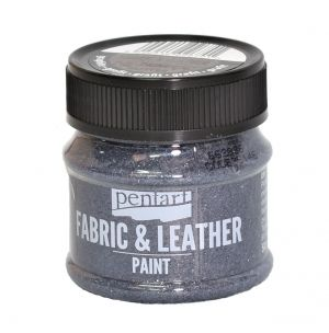 Fabric and leather paint 50ml - glittering graphite P35146