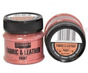 Fabric and leather paint 50ml - glittering bronze P35140