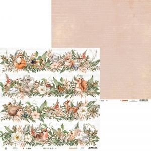 "Double-sided scrapbook paper 12""x12"" - Paper Forest tea party 05 P13-FOR-06"